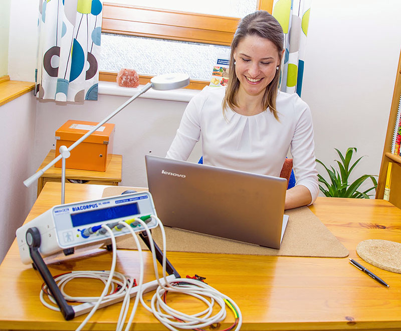 BIA-Messung bei Diätologin Katrin Sattler
